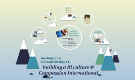 building a BI culture @ Compassion