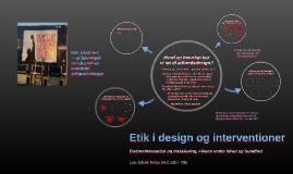 Etik i design og interventioner