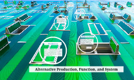 Alternative Production, Function, and System
