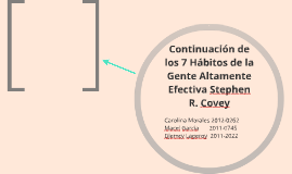 7 Habitos de Stephen R. Covey
