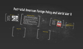 Post-WWI American Foreign Policy and World War II