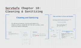 Copy of ServSafe Chapter 10:        Cleaning & Sanitizing
