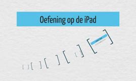 Oefening op de iPad