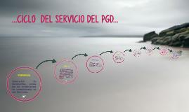 ...CICLO  DEL SERVICIO DEL PGD...