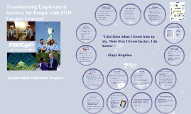 Transforming Employment Services for people with I/DD in Rhode Island