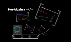 Copy of Pre-Algebra
