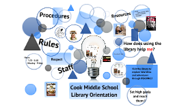 Cook Middle School-Library Orientation