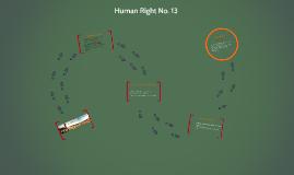 Human Right No. 13