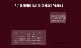2.01 Industrialization Changes America