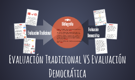 Evaluación Tradicional VS Evaluación Democrática
