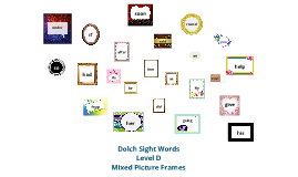 Copy of Dolch Sight Words Levl D mixed picture frames