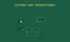 FILTROS CON TRANSISTORES
