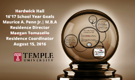 Hardwick Hall 2016-17 Goals