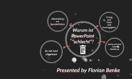 """Warum ist PowerPoint """"schlecht""""?"""