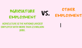 AGRICULTURE EMPLOYMENT