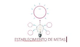 ESTABLECIMIENTO DE METAS