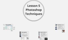 CAP 105 Lesson 5: Photoshop Tutorials