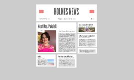 HOLMES NEWS