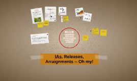 IAs, Releases, Arraignments-- oh my!