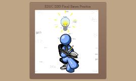 EDUC 2120 Practice Final