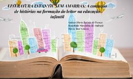 LITERATURA INFANTIL SEM AMARRAS: A contação de histórias na