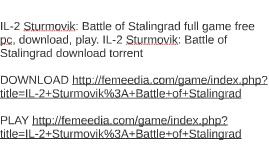 il-2 sturmovik battle of stalingrad torrent pc