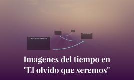 """Imagenes del tiempo en             """"El olvido que seremos"""""""