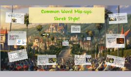 Common Word Mix-ups: Shrek Style!