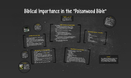 "Biblical Importance in the ""Poisonwood Bible"""