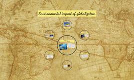 Environmental impact of globalization