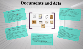 Documents and Acts