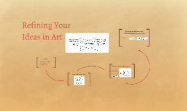 Refining Your Ideas in Art - Yr 11