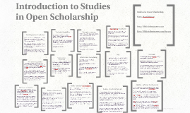 Introduction to Studies in Open Scholarship