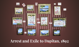 Copy of Arrest and Exile to Dapitan, 1892