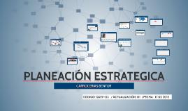 PLANEACION ESTRATEGICA BENFOR 2015