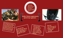 Soldier fitness requirements- Paratroop regiment.