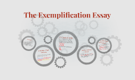 Copy of The Exemplification Essay
