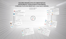 TEACHER PERSPECTIVES ON PROFESSIONAL DEVELOPMENT NEEDS FOR B