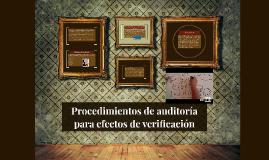 Copy of Procedimientos de auditoria para efectos de verificación