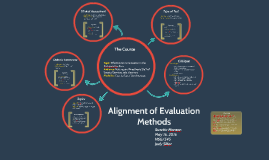 Alignment of Evaluation Methods