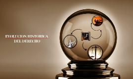 EVOLUCIÓN HISTORICA DEL DERECHO