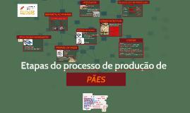 Etapas do processo de produção de pães