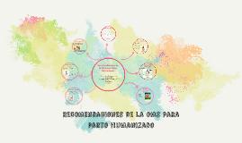 Recomendaciones de la OMS para Parto Humanizado