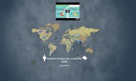 Women's literacy rate around the world