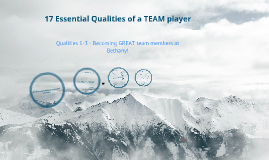 17 Essential Qualties of a team player Part I