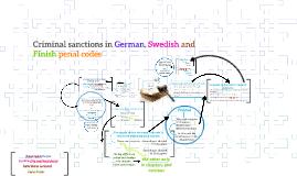 Criminal sancions in German, Swedish, Finland and finish pen