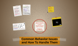 Common Behaviors and How To Fix Them