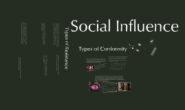Copy of Social Influence: Conformity and Resistance