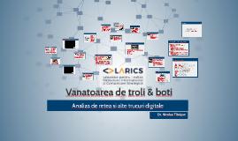 Vanatoarea de troli & boti. Analiza de retea si alte trucuri
