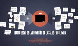 MARCO LEGAL DE LA PROMOCIÓN DE LA SALUD EN COLOMBIA